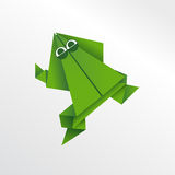 Grenouille d'Origami Photo libre de droits