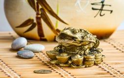 Grenouille de Feng-shui Images libres de droits