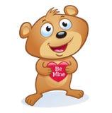 Grenouille de jour du ` s de Valentine Images libres de droits