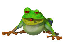 grenouille de la bande dessinée 3d Images stock