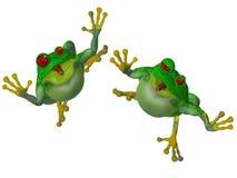 grenouille de la bande dessinée 3d Photos libres de droits