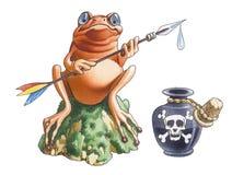 Grenouille de poison illustration stock