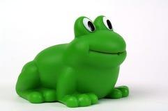 Grenouille en plastique verte Image libre de droits