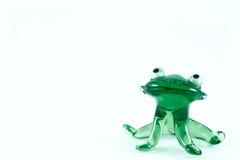Grenouille en verre vert Photos stock