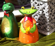 Grenouille Handcrafted Images stock
