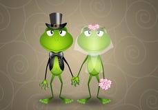 Grenouille juste mariée illustration stock