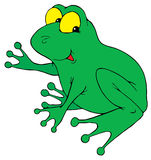 Grenouille verte illustration libre de droits