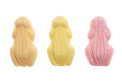 Grenouilles colorées Sinterklaas de bonbons Image stock
