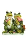 Grenouilles dans l'amour Photo libre de droits