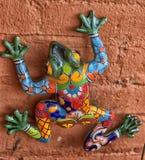 Grenouilles en céramique Guanajuato Mexique Photos stock