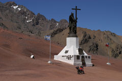 Grens Argentinië - Chili Stock Afbeeldingen