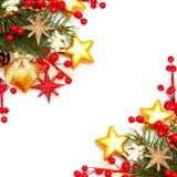 Grens - de achtergrond van Kerstmis Royalty-vrije Stock Foto