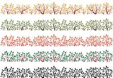 Grens die silhouet van boombovenkant bevat royalty-vrije illustratie