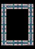 Grens die van gebrandschilderd glas wordt gemaakt Stock Afbeelding