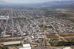 Grens in Douglas, Arizona stock afbeelding