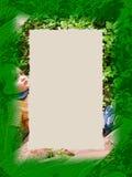 Grens: Groene Jongen Royalty-vrije Stock Afbeeldingen