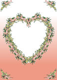 Grens, hart Royalty-vrije Stock Afbeeldingen