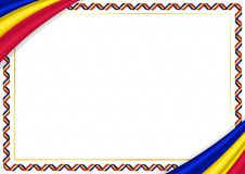 Grens met de nationale kleuren die van Andorra wordt gemaakt stock illustratie