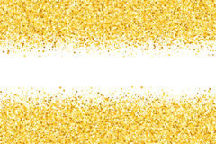 Grens met flikkeringssterren Gouden fonkeling Gouden kader van sterren Grens confetti vector illustratie