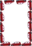 Grens met geïsoleerde auto's Royalty-vrije Stock Foto's