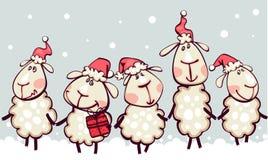 Grens met Kerstmis Stock Afbeelding