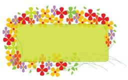 Grens met Kleurrijke Bloemen Stock Foto's
