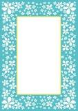 Grens met witte bloemen Stock Afbeeldingen