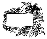 Grens op witte achtergrond Stock Foto