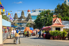 Grens Thailand-Kambodja royalty-vrije stock foto