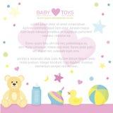 Grens van de levering van de babyzorg met plaats voor uw tekst Stock Afbeeldingen