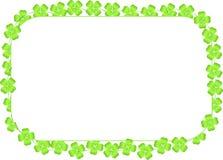 Grens van geïsoleerde die klavertjevieren wordt gemaakt Royalty-vrije Stock Fotografie