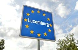 Grens van Luxemburg Stock Fotografie