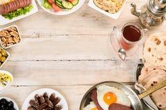 Grens van oosters ontbijt stock afbeelding
