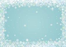 Grens van sneeuwvlokken stock illustratie