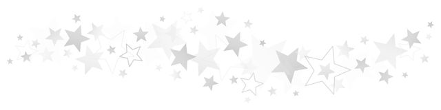 Grens Verschillend Zilver en Gray Stars stock illustratie