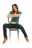 grensle stolskvinna Arkivbilder