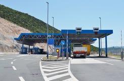 Grensovergang tussen Kroatië en Bosnië-Herzegovina Stock Foto's