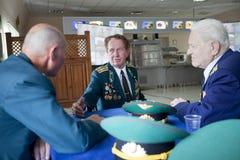 Grenswachtendag in Tcherkassy Stock Foto's