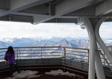 Grenze der Alpen, Frankreich Italien, am 29. Juli 2017 - großartige Ansicht Lizenzfreies Stockbild