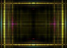Grenze der gelben Lichter auf Schwarzem Lizenzfreie Stockfotos