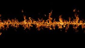 Grenze des Feuers auf Schwarzem Stockbild