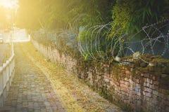Grenze geteilt für den Frieden stockfotos