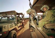 GRENZE ISRAELS DER LIBANON Lizenzfreies Stockfoto