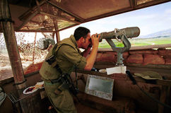 GRENZE ISRAELS DER LIBANON Stockfotografie
