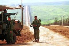 GRENZE ISRAELS DER LIBANON Stockfotos