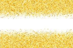 Grenze mit Schimmersternen Goldenes Feld Lizenzfreies Stockfoto
