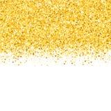 Grenze mit Schimmersternen Goldschein Goldener Rahmen von Sternen confetti Stockbilder