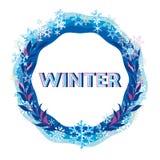 Grenze und Band von farbigen Schneeflocken Stockfoto