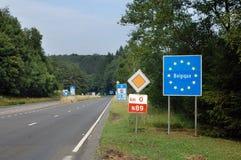 Grenze von Belgien Stockfotografie