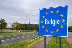 Grenze von Belgien Lizenzfreies Stockbild